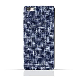 AMC Design Brushed Chambray Pattern Printed Protective Case for Vivo V5 Lite - Blue