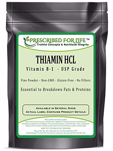 Thiamin HCL USP Grade Vitamin B-1 Powder, 55 lb by Prescribed For Life