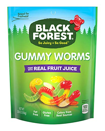 Black Forest Gummy Worms Candy, 28.8-Ounce Bag (Pack of 6)