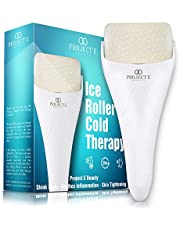 Project E Beauty Ice Roller Cold Therapy | Face Eye Body Massage Massager Under Eye Puffiness Brightening Cooling Cool Tightening Reduce Wrinkles Dark Circles Muscle Soreness Pain Relief Redness