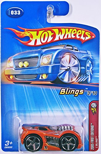 Hot Wheels 2005 First Editions Blings #3 L'Bling 5-spoke Wheels Collector Car -