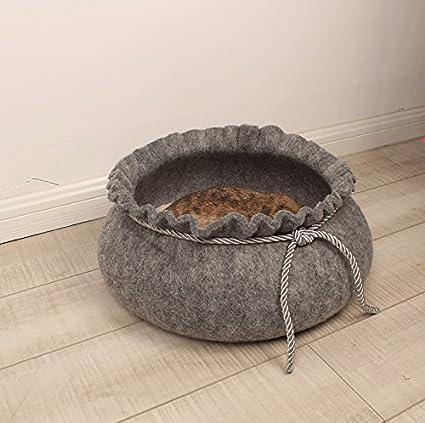 Diseño creativo de fieltro arena para gatos gato cama del perro cama caseta de perro cama