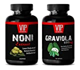 Product review for antiaging diet - NONI EXTRACT – GRAVIOLA EXTRACT - graviola extract - 2 Bottles Combo (60 Capsules + 60 Capsules)