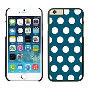 Crazy Personalized Polka Dot Dark green and White iPhone 6 Plus Case Black