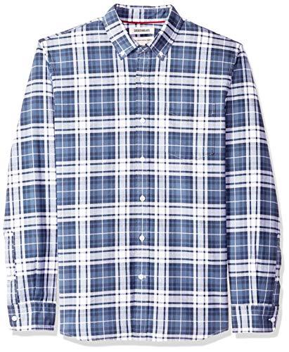 fit Plaid Chemise Ind Et sleeve Goodthreads indigo Carreaux Classique Standard Oxford Bleu Long Homme Navy 54HwpYU