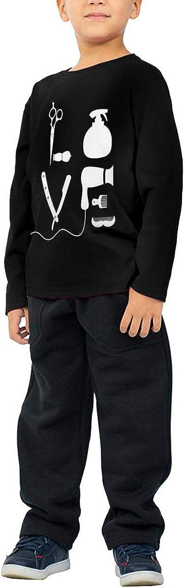 Little Boys Barber Salon Hairdresser Love ComfortSoft Long Sleeve Shirt