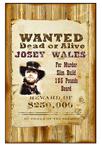 amazon com xxxl 20 x 30 poster wanted dead or alive josey wales