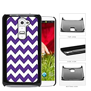 Chevron Design Pattern in Purple Hard Plastic Snap On Cell Phone Case LG G2