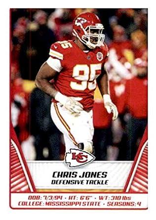 best sneakers a2b74 41397 Amazon.com: 2019 Panini NFL Stickers #249 Chris Jones Kansas ...