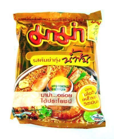 Mama Brand Instant Noodles Shrimp Creamy TOM YUM Thai 4 Pack