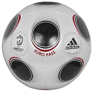 adidas Euro Pass balón Oficial de Euro 2008-604897, Metallic White ...