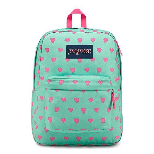 Jansport Girls Backpack - JanSport Superbreak Backpack - Cascade Bleeding Hearts - Classic, Ultralight