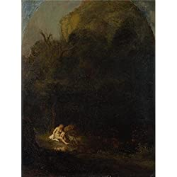 Perfect Effect Canvas ,the Replica Art DecorativeCanvas Prints Of Oil Painting 'Follower Of Rembrandt - Diana Bathing Surprised By A Satyr,17th Century', 20x26 Inch / 51x67 Cm Is Best For Bar Decor And Home Decoration And Gifts