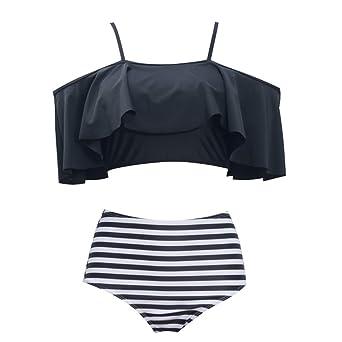 GOTIMAL Damen V-Schnitt Bikini Slip Badeshorts Unterteil Badehose Beachwear Hipster-Shorts Schwarz