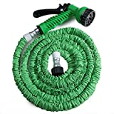 200ft Garden Hose Expandable Magic Flexible Water Hose Eu Hose Plastic Hoses Pipe With Spray Gun - Green