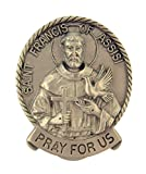 Pewter Catholic Patron Saint Pray for Us Medal Visor Clip, 2 Inch