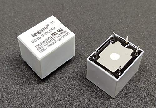INVENTO 2pcs 24V DC Relay 5 Pin 24V 10A Current Sugar Cube PCB Mount Relay SPDT Relay for DIY Projects Price & Reviews