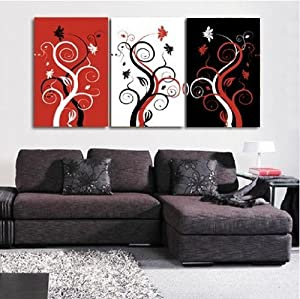 Amazon.com: 100% Hand Painted Oil Painting 3 Piece Canvas