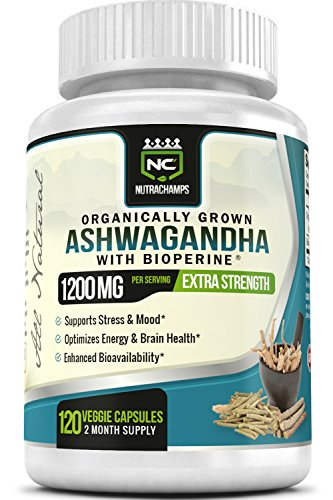 NutraChamps Organic Ashwagandha 1200mg Supplement product image