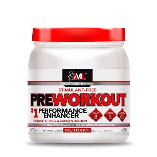 Advanced Molecular Labs Preworkout Stimulant Free 20 Servings 18.6 oz./ 512 g