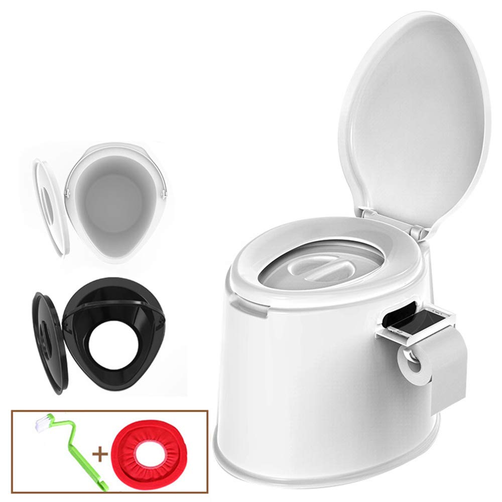 Portable Toilet Heavy Duty 400 lbs Mobile Camping Toilets Hiking Boating