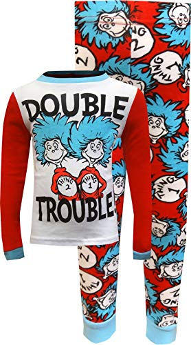 MJC Boys' Cat in The Hat Thing 1 and Thing 2 Double Trouble Pajamas (6)