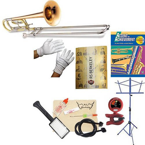 RS Berkeley tbf704 Elite Series Bb Tenor Trombone with F Attachment and case & Bonus RSB MEGA PACK w/Accent in achievement Book