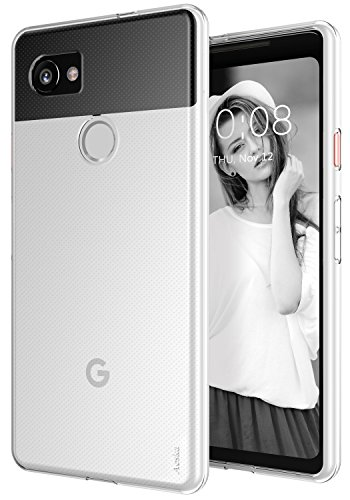 Google Pixel 2 XL Case, Aeska Ultra [Slim Thin] Flexible TPU Gel Rubber Soft Skin Silicone Protective Case Cover for Google Pixel 2 XL (Clear)