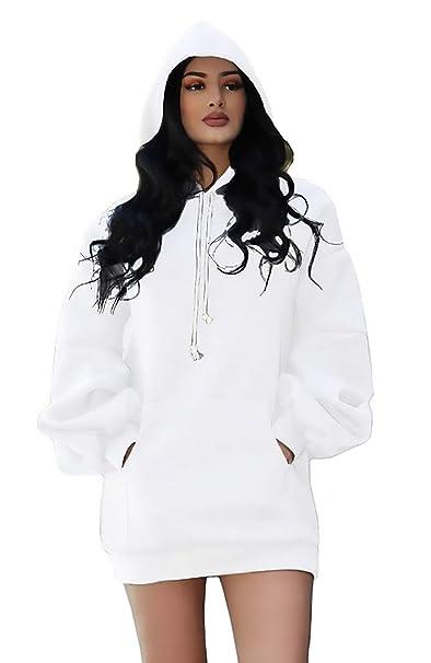 Capucha Vestidos Con Deportiva Mujer Hoodie Moda Elegantes Anchos QdhxBotsrC