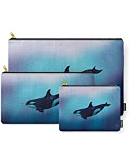 Society6 Lost In Fantasy ~ Orca ~ Killer Whale Carry-All Pouch
