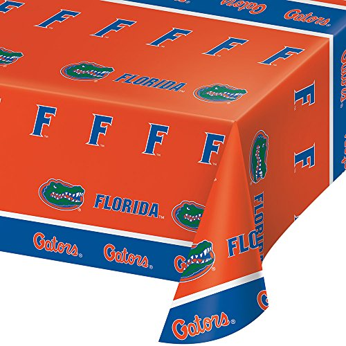 Florida Gator Football Bowl (2-ct University of Florida Premium Gators Plastic Table Covers College Party)