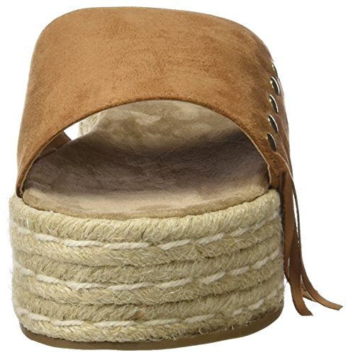Refresh 063487, Sandalias con Plataforma Plana para Mujer Hueso (Camel)