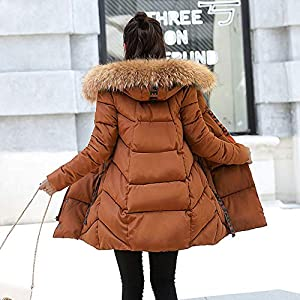 Red Ta Women Plus Size Winter Long Sleeve Fur Collar Warm Jacket,Ladies Letter Print Casual Hooded Overcoat Outewear