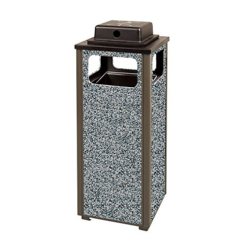 - Rubbermaid Commercial Products FGR12WU6000PL Dimension 500 Series Ash/Trash Refuse Container with Weather Urn (12-Gallon)