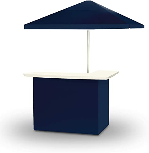 Best of Times 2001W1314 Navy Blue Solid Portable Bar and 8 ft Tall Square Umbrella
