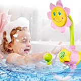 Baby Bath Toy Sunflower Bathtime Toy Shower Spray Bath Toy For Kids Gifts(Color:Pink)