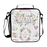 Insulated Lunch Bag for Men Women Kids Lovely Mother's Day Element Lunch Box