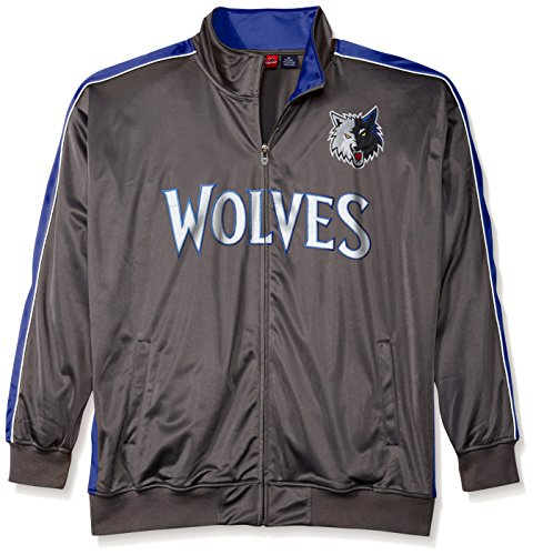 Profile Big & Tall NBA Minnesota Timberwolves Men's Reflective Track Jacket, X-Large/Tall, Charcoal/Blue