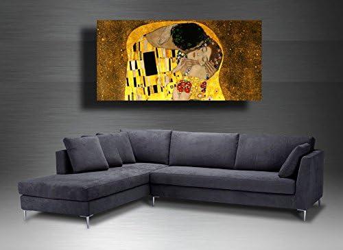 40x70 cm Quadro moderno KLIMT ABBRACCIO particolare Albero della Vita periodo oro RIPRODUZIONE STAMPA SU TELA XXL Moderno Cucina Soggiorno Camera da letto printerland.it