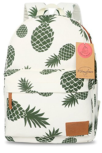 School Bookbags For Girls Teen Daypacks College Backpack Women Floral Pineapple Bag - Pineapple (Small Floral Gift Bag)