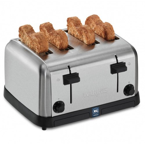 Medium-Duty 4-Slot Toaster 120V Waring Commercial WCT708