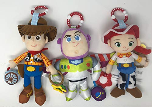 DIY Distributors Disney•Pixar Toy Story Woody On The Go Activity Toy Bundle with Jessie and Buzz Lightyear On The Go Activity Toys -