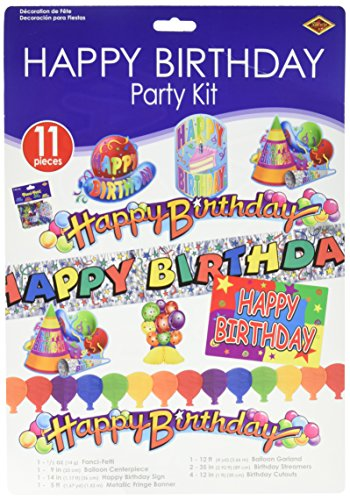 Happy Birthday Party Kit Party Accessory (1 count) (11/Pkg) -