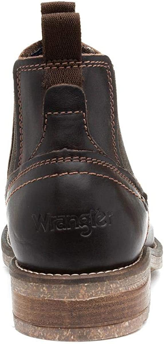 Wrangler Hill Mens Brown Leather Chelsea Boot Brown