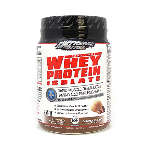 Bluebonnet Nutrition Extreme Edge Whey Protein Isolate Powder Chocolate Flavor, 1 Pound
