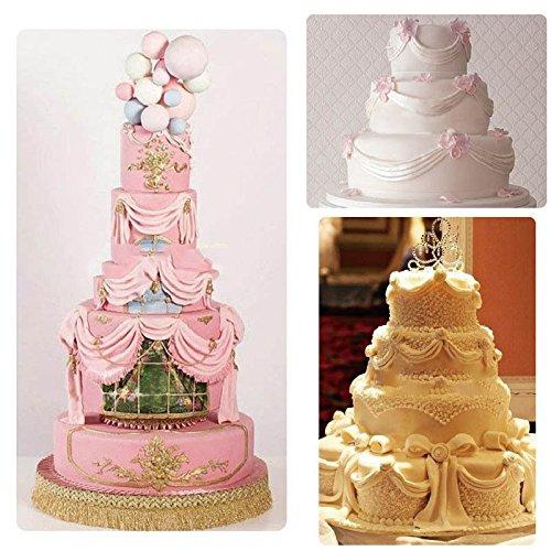 Long Ruban Swag Moule en Silicone Fondant pour gla/çage Sugarcraft Moule DIY D/écoration de g/âteaux Anqeeso Moule /à Cake