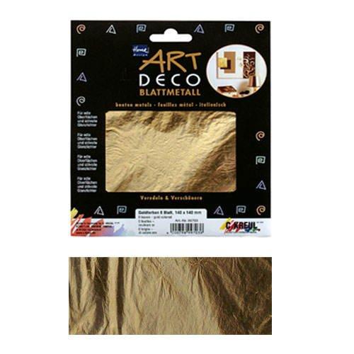 Art Deco Blattmetall, 6 Blatt, 140x140mm, gold [Spielzeug]