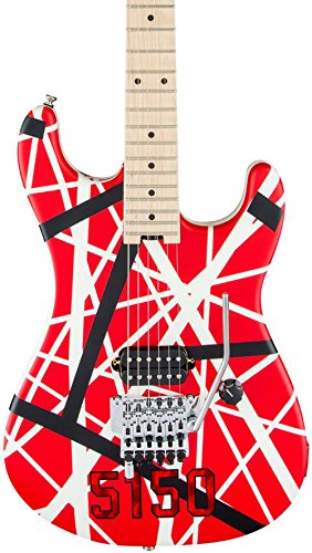 - EVH Striped Series 5150 - Red, Black and White