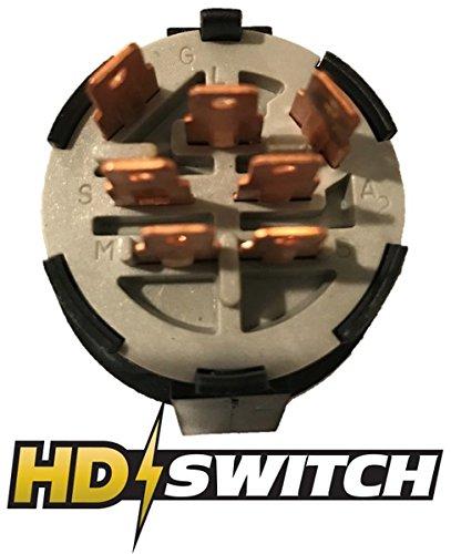 John Deere Starter Ignition Switch L100, L105, L107, L108, L110, L111 - Free 2 Key & Keychain - HD Switch