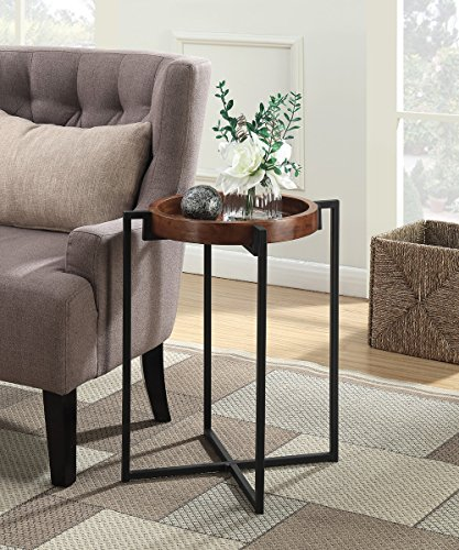 Convenience Concepts 227265 Nordic Round Tray End Table